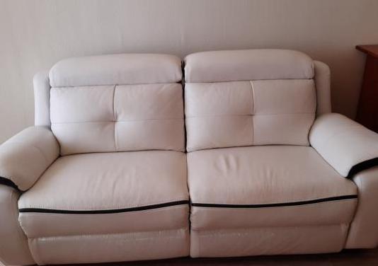 Sofa piel motorizado
