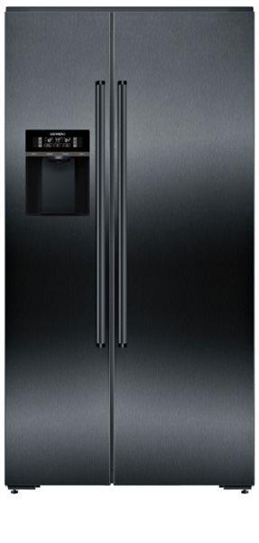 Siemens ka92dhxfp - frigorífico americano inox negro