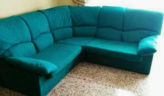 Sofa esquinero color verde