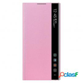 Samsung clear view funda rosa para samsung galaxy note 10