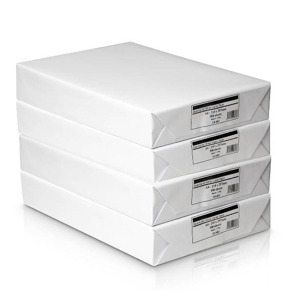Caja con 4 paquetes de 500 folios (2000 folios, a4, 80