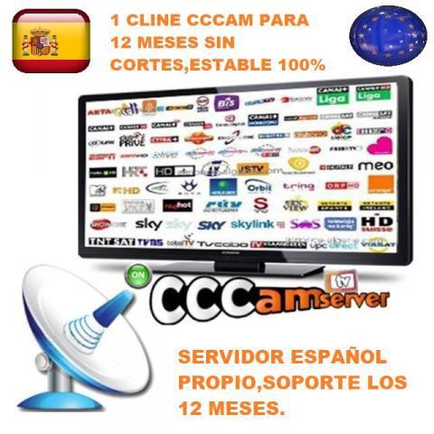 1 linea cccam servidor español sin cortes para 12 meses
