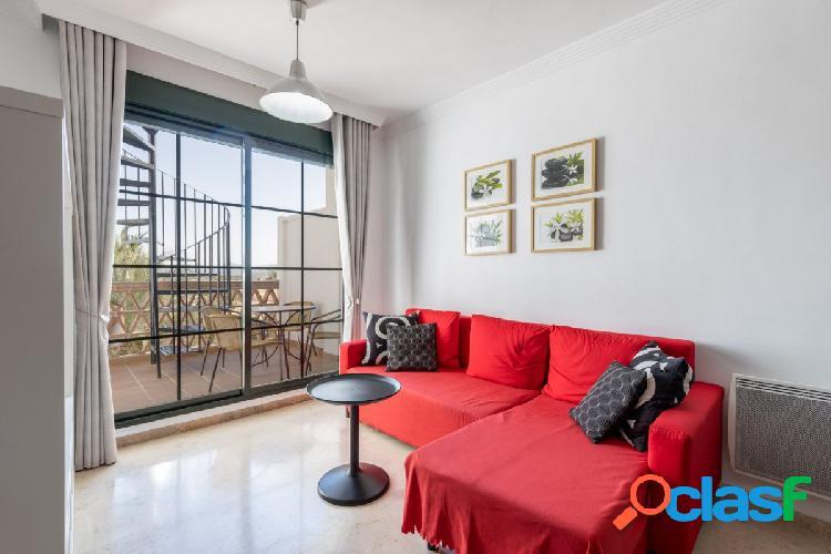magnifico ático de dos dormitorios climatizado con piscina, solárium 35m2 garaje y trastero 1