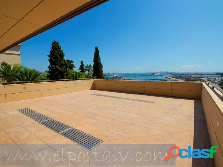 Piso de lujo con una grandiosa terraza sobre el paseo maritimo