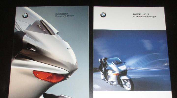 Catálogo y hoja publicitaria de motos bmw k 1200 lt.