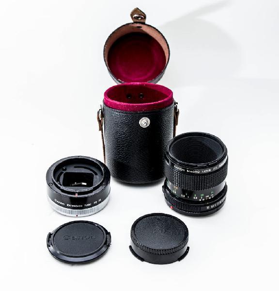 Canon fd 50mm f3,5 macro y tubo ext. fd25-u.