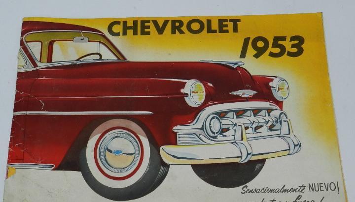 Catálogo de coche marca chevrolet 1953 - catálogo de