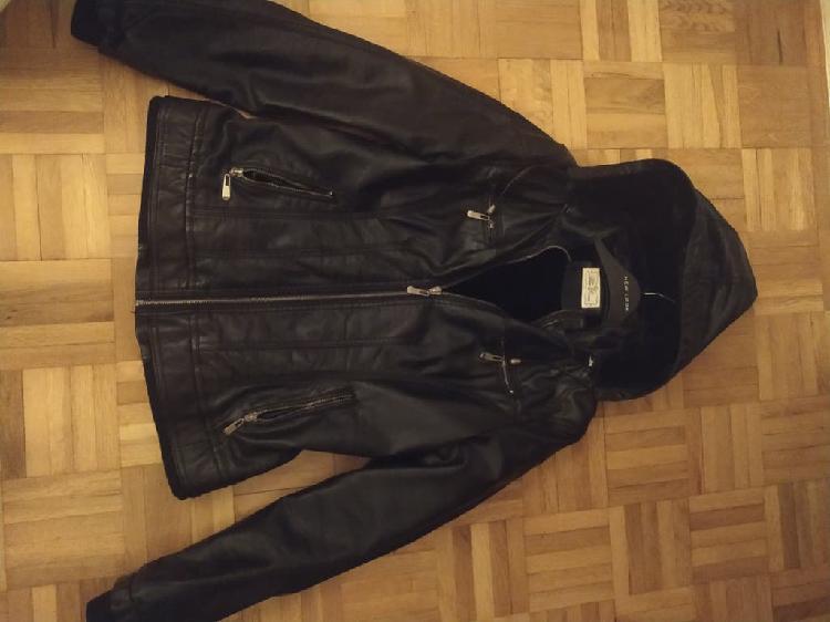Cazadora chaqueta polipiel negra