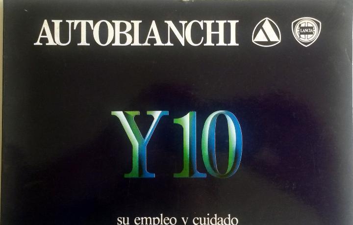 Manual instrucciones original autobianchi lancia y10.