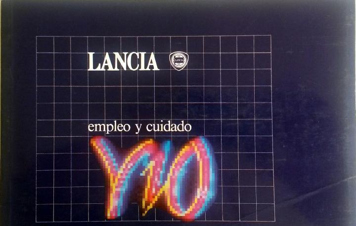 Manual instrucciones original lancia y10.