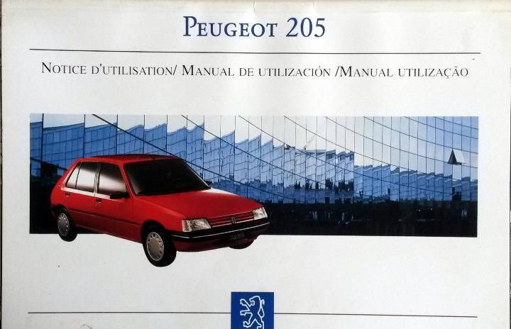Manual instrucciones original peugeot 205.