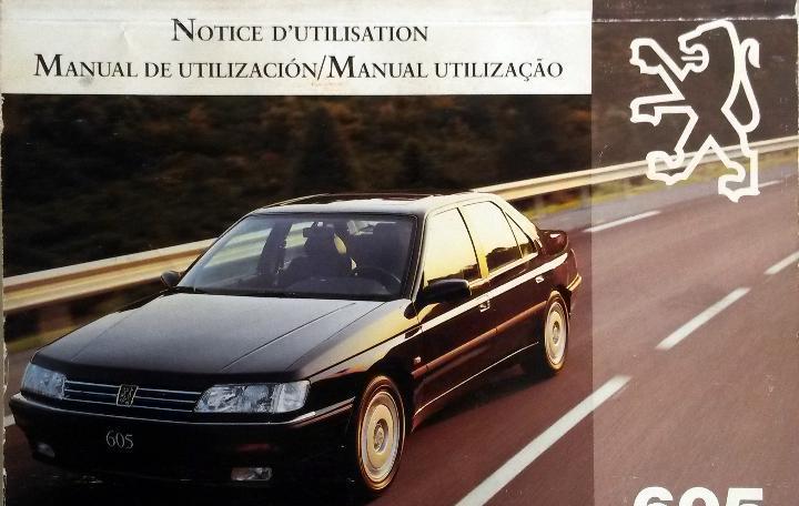 Manual instrucciones original peugeot 605.