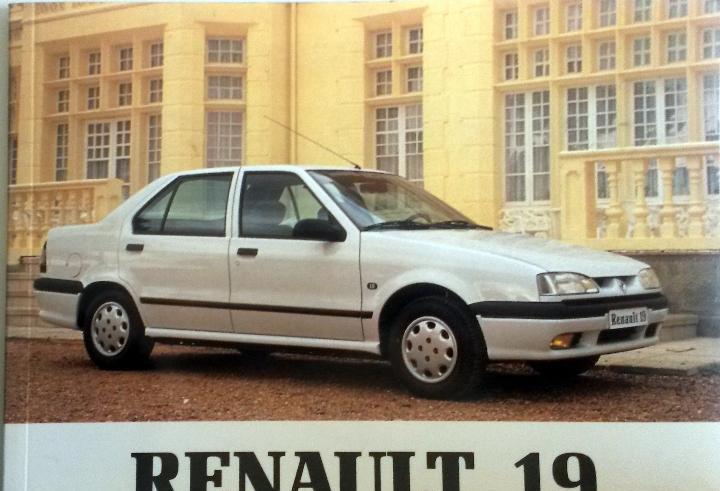 Manual instrucciones original renault 19 - año 1992.