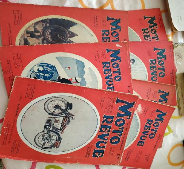 Moto revue lote de 7 revistas años 1927,1930,1931,1933,1934
