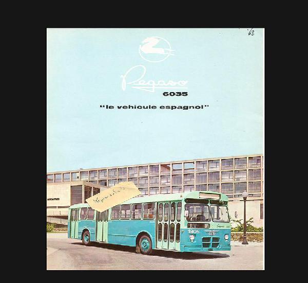 Pegaso 6035 stadtbus monotral folleto doble cara en