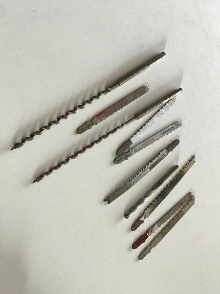 Set brocas de madera largas y sierras de calar