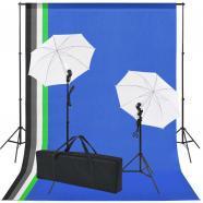 Vidaxl kit de estudio con 5 telones fondo colores y 2