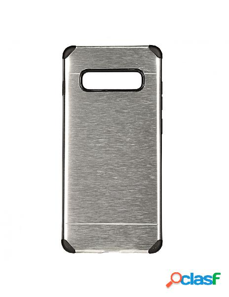 Funda metalizada doble plata para samsung s10 plus