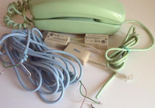 Lote telefono góndola. filtros y cable.