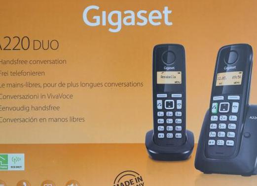 Teléfonos inalámbricos (dúo)