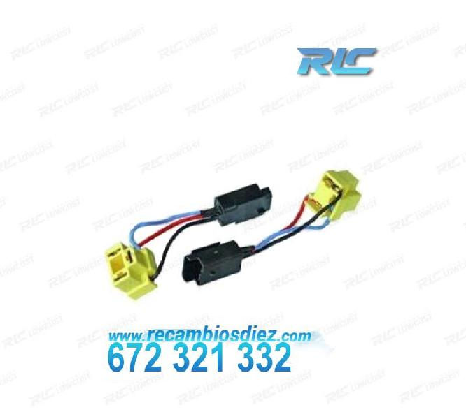 Cables de conversión h7 h4 faros peugeot 206