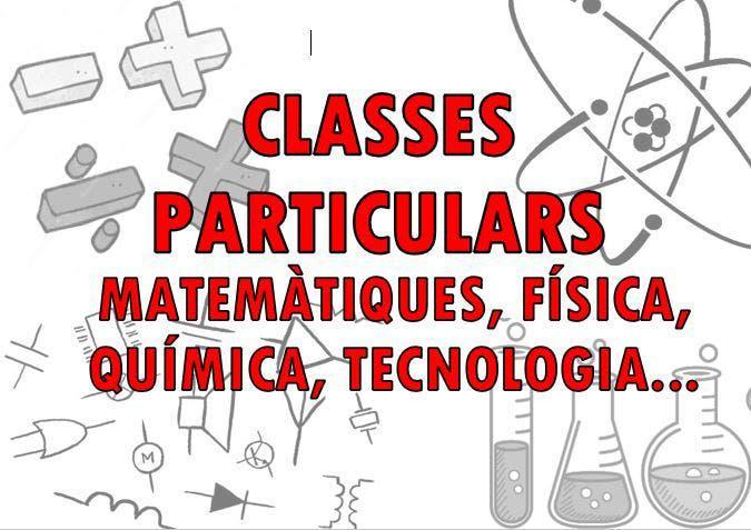Clases de matemáticas, física, química, tecnología