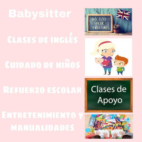 Clases particulares, cuidado de niños