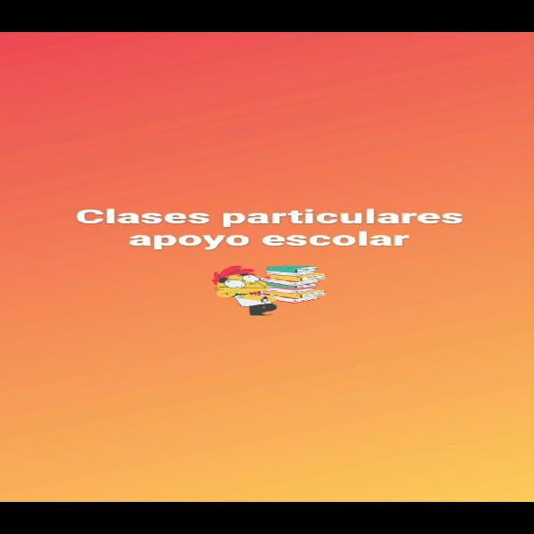 Clases particulares apoyo escolar