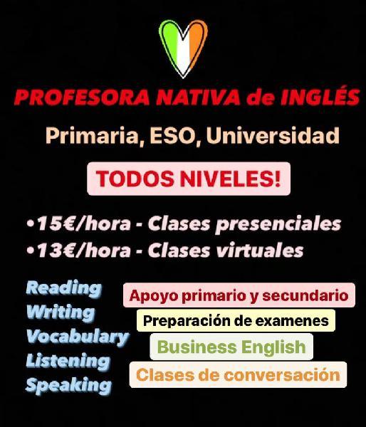 Profesora nativa de inglés