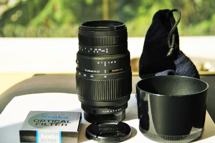 Sigma 70-300mm f4-5.6 para pentax, ff y aps-c