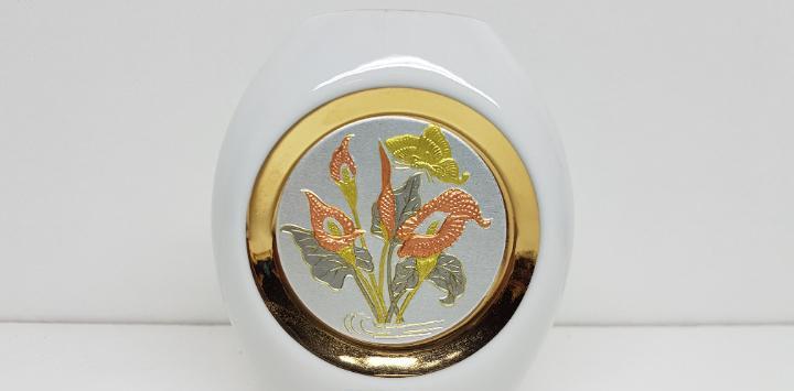 Antiguo tibor de porcelana japonesa arte chokin en oro de 24