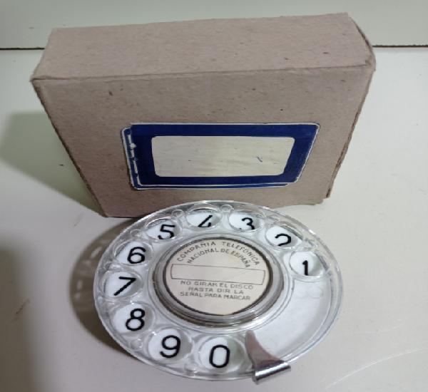Dial para teléfono antiguo baquelita. ctne, compañía