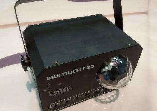 Efecto de luces bola de led, laser y estrobo