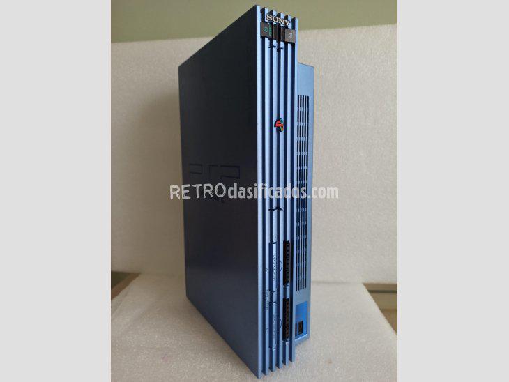 Se vende playstation 2 scph-50003 metallic blue aqua