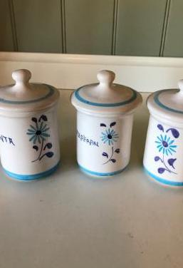 Tres tarros cerámica
