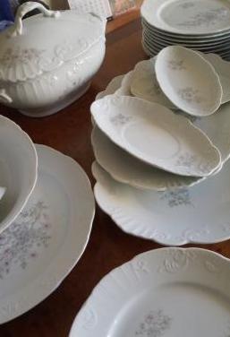 Vajilla de porcelana vista alegre ema, portugal
