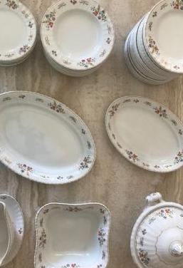 Vajilla preciosa de porcelana antigua royal china