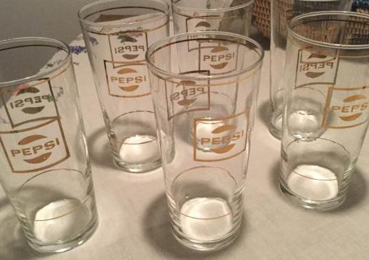 Vasos antiguos de pepsi - retro- vintage