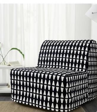 Sofá cama individual ikea estampado