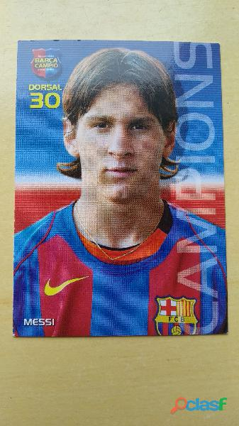 Cromos Leo Messi año Rookie 2004 2005 2