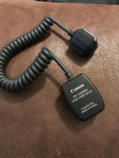 Adaptador canon off-camera shoe cord pc-e3