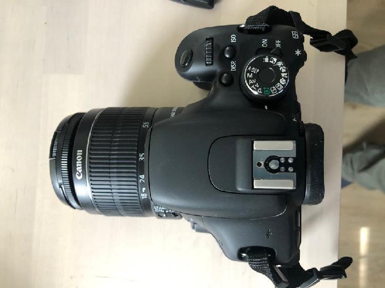 Cámara fotos canon eos 600d+objetivo efs 18-55