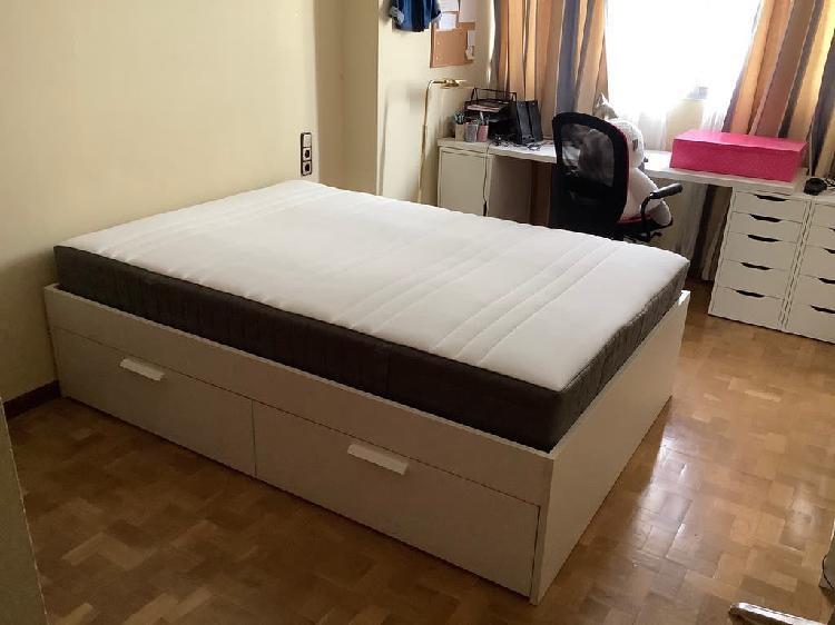 Estructura cama y colchón
