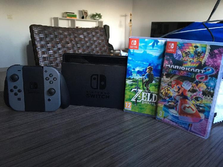 Nintendo switch como nueva 2 juegos