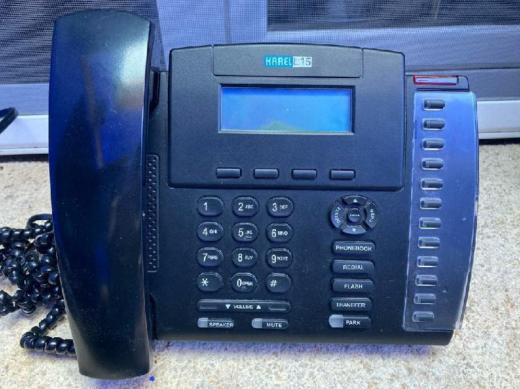 Teléfono centralita karel