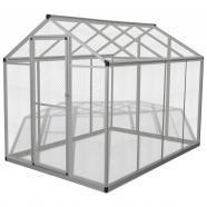 Vidaxl pajarera exterior de aluminio 178x242x192 cm