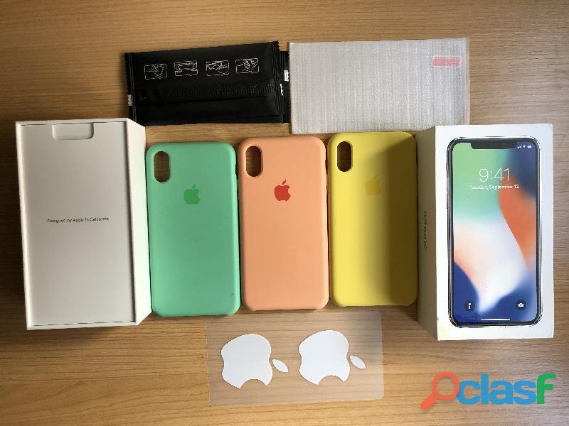 Iphone x 64 gb y fundas originales de apple