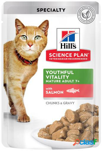Hill's science plan youthful vitality salmón en pouche 12x85 gr