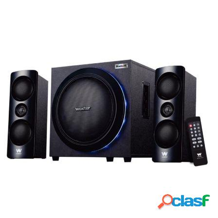 Altavoces 2.1 woxter big bass 500r - 150w - subwoofer - luces leds - b