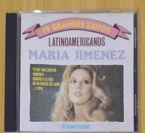 Maria jimenez (12 grandes exitos - latinoamericanos) cd 1992